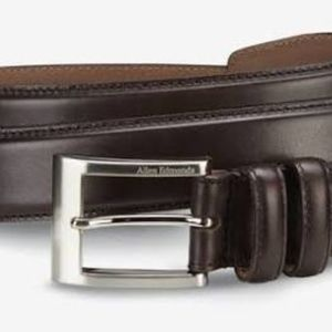 Allen Edmonds Dark Brown Calfskin Belt - SZ 44